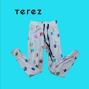 Terez Rainbow Star Joggers Size XS